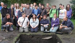 The first UCLan students and staff to dig at Ribchester in 2013