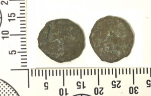 Roman coins for comparison excavated from last year