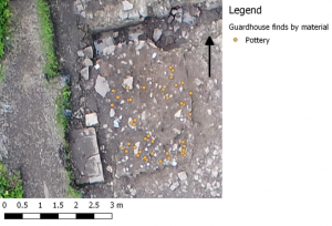 Figure 3. Distribution of Pottery within the Guardhouse
